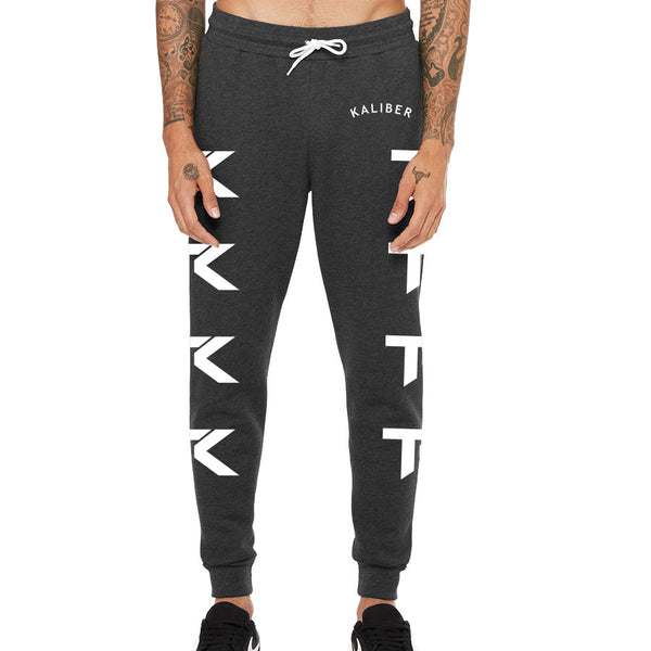 Team Kaliber Arc Joggers - Wht on ChclHthr