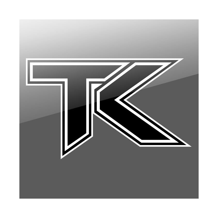 "Team Kaliber Icon 24"" Wall Decal - Blk on Wht"