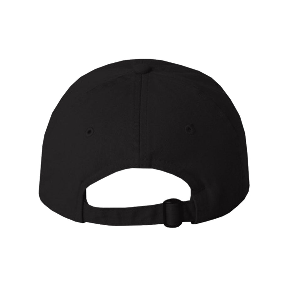 AgonyVII Dad Hat [clan] - Wht on Blk