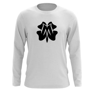 Master of Luck Icon Long Sleeve - Blk on Wht