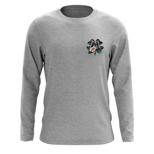 Master of Luck Icon Heart FX Floral Long Sleeve - SprtGry