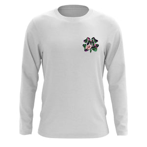 Master of Luck Icon Heart FX Floral Long Sleeve - Wht