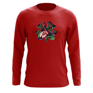 Master of Luck Icon FX Floral Long Sleeve - Red