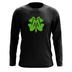 Master of Luck Icon Long Sleeve - Grn on Blk