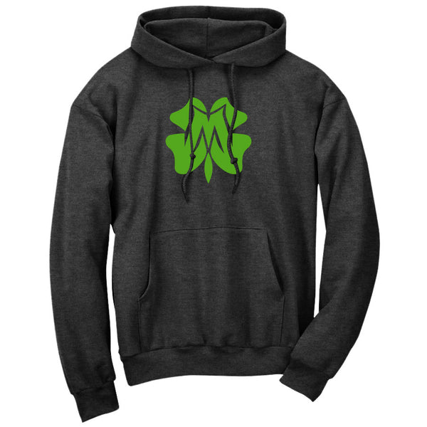 Master of Luck Icon Hoodie - Grn on ChclHthr