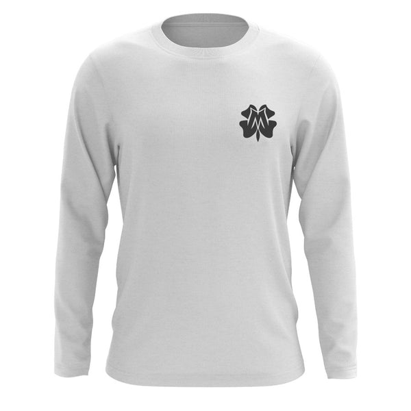 Master of Luck Icon Heart Long Sleeve - DGry on Wht