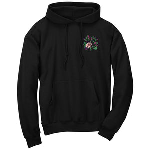 Master of Luck Icon Heart FX Floral Hoodie - Blk
