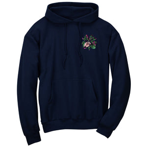 Master of Luck Icon Heart FX Floral Hoodie - Nvy