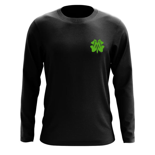 Master of Luck Icon Heart Long Sleeve - Grn on Blk