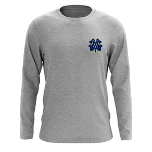 Master of Luck Icon Heart Long Sleeve - Nvy on SprtGry