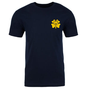 Master of Luck Icon Heart Short Sleeve - Yel on Nvy