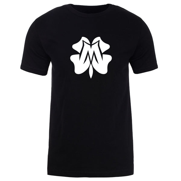 Master of Luck Icon Short Sleeve - Wht on Blk