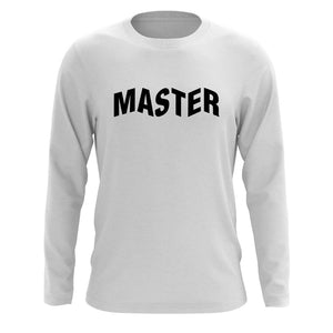 Master of Luck Logo Long Sleeve - Blk on Wht