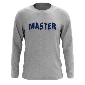 Master of Luck Logo Long Sleeve - Nvy on SprtGry