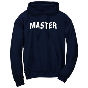 Master of Luck Logo Hoodie - Wht on Nvy