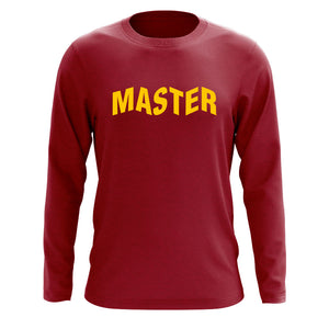 Master of Luck Logo Long Sleeve - Yel on Crdnl