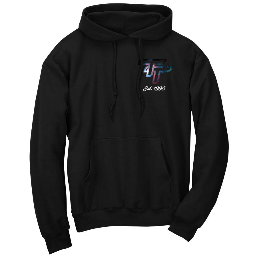 Tina Galaxy Heart FX Wht Hoodie - Blk - DISCOUNTED ITEM