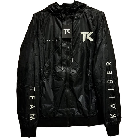 Team Kaliber Premium Label Hooded Windbreaker - Crm on Blk