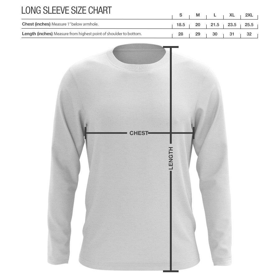 Flowers Icon Heart Long Sleeve - Wht on Nvy