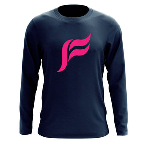 Felo Icon Long Sleeve - NPnk on Nvy