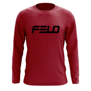 Felo Logo Long Sleeve - Blk on Crdnl