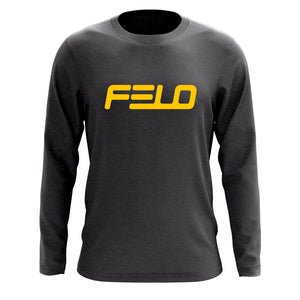Felo Logo Long Sleeve - Yel on Chcl