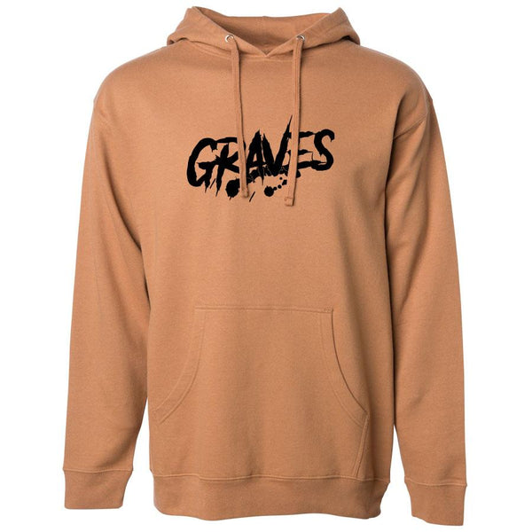 Graves Logo Hoodie - Blk on Saddle