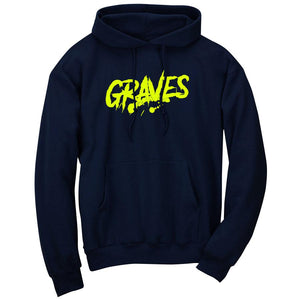 Graves Logo Hoodie - NYel on Nvy