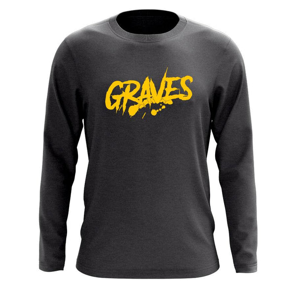 Graves Logo Long Sleeve - Yel on Chcl