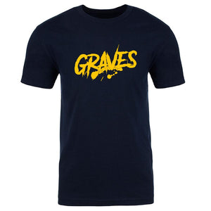 Graves Logo Short Sleeve - Yel on Nvy