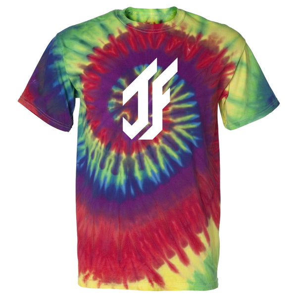 Jason Falco Icon Short Sleeve - Wht on Tie Dye