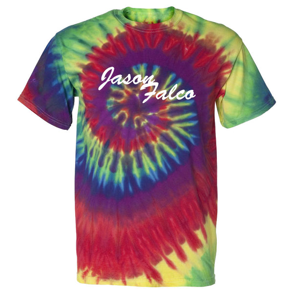 Jason Falco Indication Short Sleeve - Wht on Tie Dye