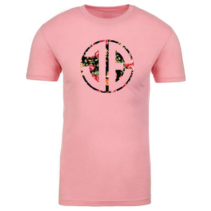 JEric Cut Out FX Rose Short Sleeve