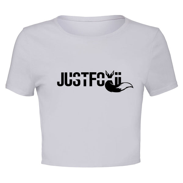 justfoxii Logo Girls Crop Tee