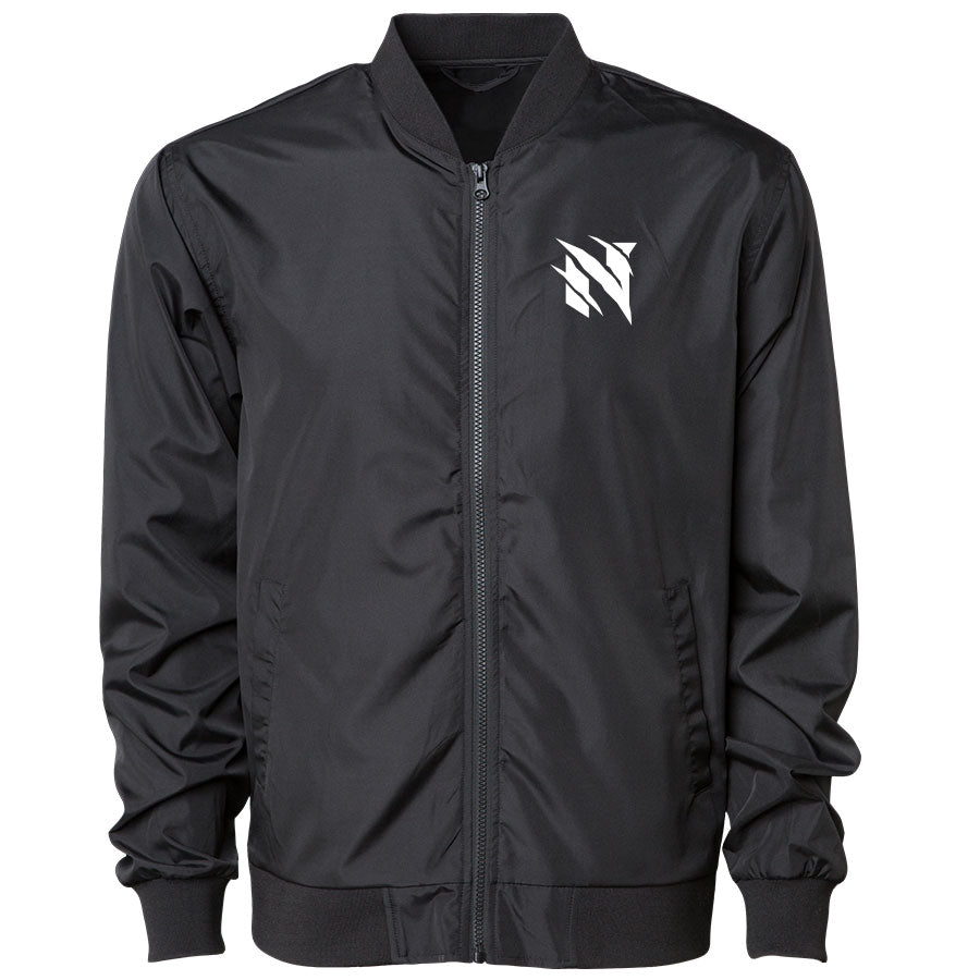 Neslo Icon Bomber Jacket - Wht on Blk