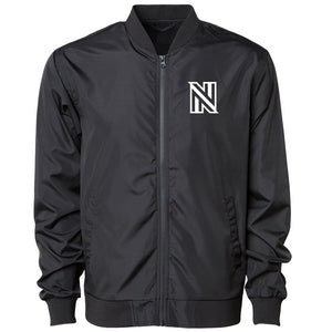 NuFo Icon Bomber Jacket - Wht on Blk