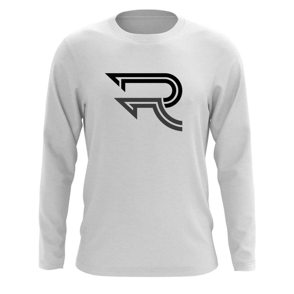 Replays DoubleUp Long Sleeve - BlkDGry on Wht