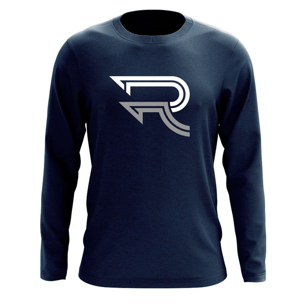 Replays DoubleUp Long Sleeve - WhtGry on Nvy