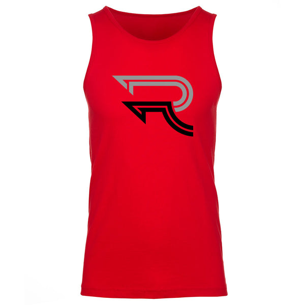 Replays DoubleUp Tank Top - GryBlk on Red