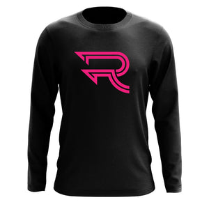 Replays Icon Long Sleeve - NPnk on Blk