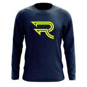 Replays Icon Long Sleeve - NYel on Nvy