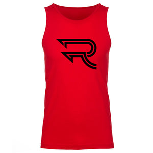 Replays Icon Tank Top - Blk on Red