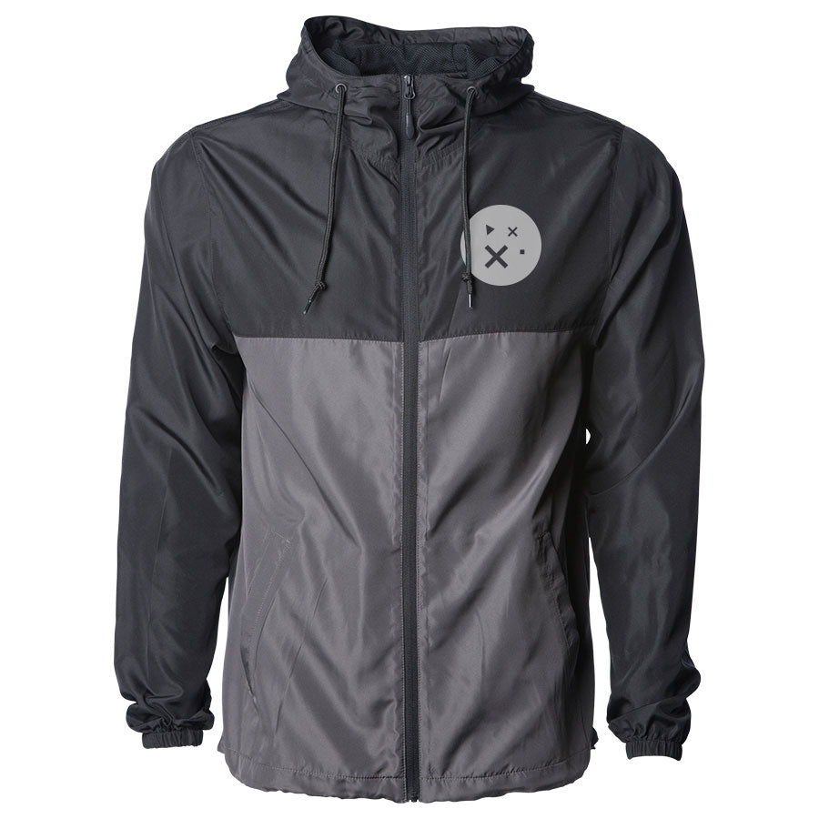 Sparkd Studios Combo Lightweight Windbreaker - Gry on BlkGraphite
