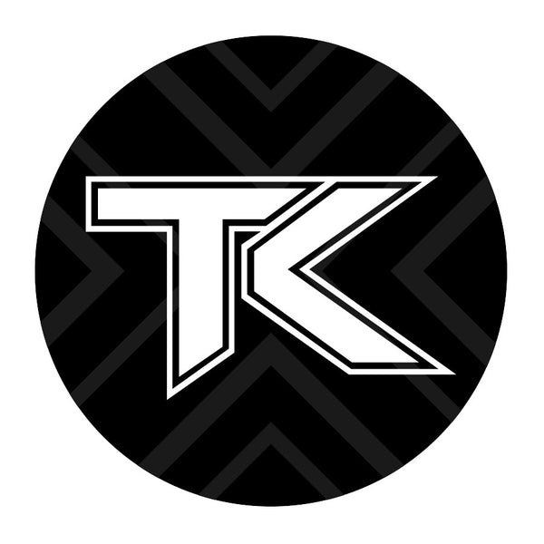 Team Kaliber PopSocket Icon - Wht on GryBlk w/ Black Base