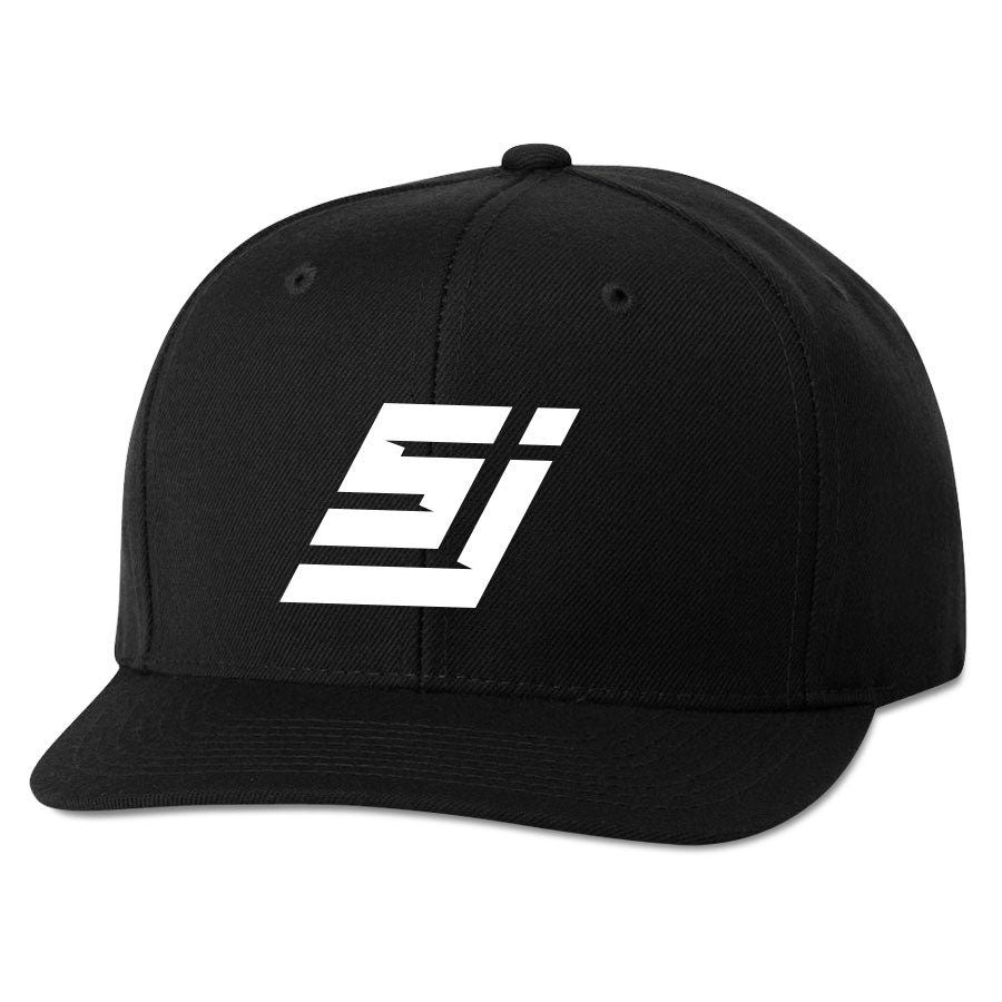 ScufJumpn Icon 6 Panel Snapback Hat - Wht on Blk