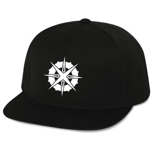 Astral Authority Icon 6 Panel Snapback Hat - Wht on Blk - DISCOUNTED ITEM