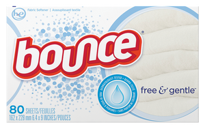 Bounce® Free & Gentle™ Fabric Softener Dryer Sheets