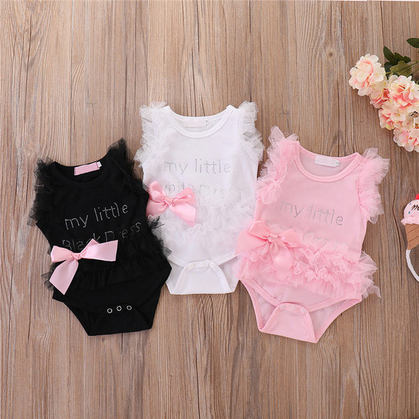 Infant Girls Bodysuits No Sleeve Baby Clothes Summer Newborn Baby Clothes Kawaii Outfit Infant Short sleeve Daddy Cute Gift New