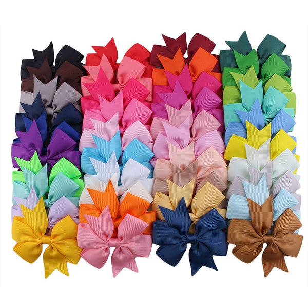 10pcs/lot Grosgrain Ribbon Hair Bow with Clip Girls Boutique Bow Hair Clip Hairpin Baby Newborn Photo Shoot Hair Accessories