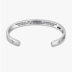 """Remember...You Are and Straighten Your Crown"" Adjustable Bracelet"